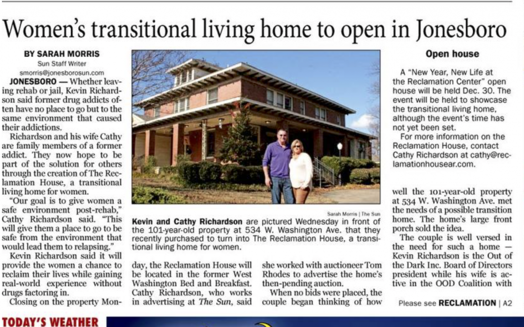 Featured in Jonesboro Sun